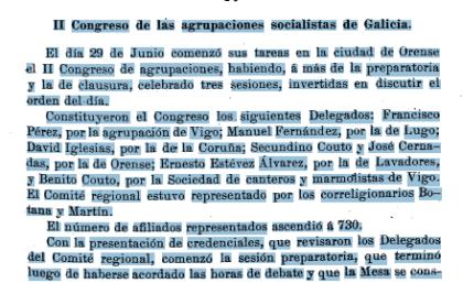 Congreso agrupaciones socialistas