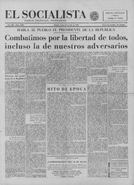 El Socialista 19-07-1938 Ptda
