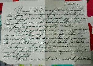 Carta de la hermana de Francisco