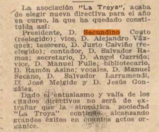 La Troya,Revista Galega. Segentina. Febrero 1927