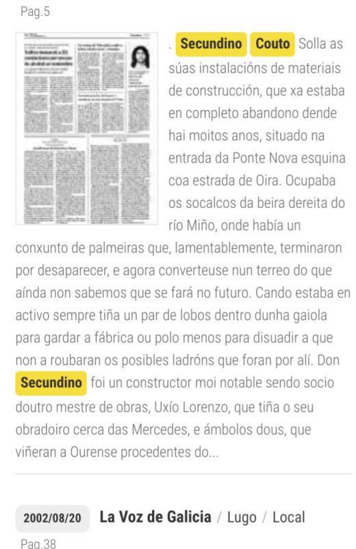 Sociedade de Secundino Couto con Uxío Lorenzo
